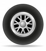 Wheel For Racing Car Vector Illustration Eps 10