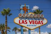 image of las vegas casino  - A view of Welcome to Fabulous Las Vegas sign in Las Vegas Strip at day time - JPG