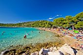 Crystal Clear Turquoise Beach In Croatia