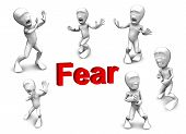 3D Person Who Very Frightened, Trembling In Fear