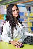 environmental Portrait of a female pharmacist