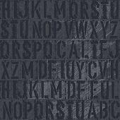 Background of old vintage letterpress type letters, vector