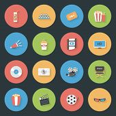 Cinema Flat Icons Set