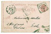 Postcard. Old Used Italian Handwritten Letter