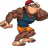 picture of gorilla  - Surprised cartoon gorilla - JPG