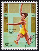 Postage Stamp Vietnam 1983 Long Jump
