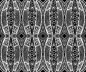 Black And White Tribal Ornament