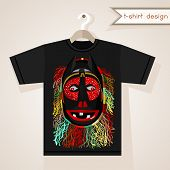 T-shirt Design With African Mask