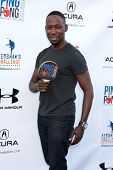 LOS ANGELES - SEP 4:  Lamorne Morris at the Ping Pong 4 Purpose Charity Event at Dodger Stadium on September 4, 2014 in Los Angeles, CA