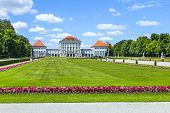 famous Nymphenburg castle in Munich