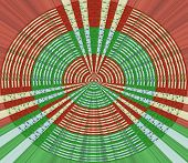 Abstract Burst of red and green with holly berries