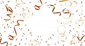 pic of confetti  - Golden streamers and confetti background with copy - JPG