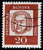 GERMANY - CIRCA 1963: a stamp printed in Germany shows Johann Sebastian Bach