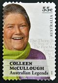 AUSTRALIA - CIRCA 2010: A stamp printed in Australia shows Colleen McCullough australian legends