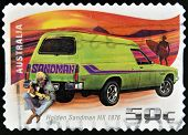 AUSTRALIA - CIRCA 2006: A stamp printed in Australia shows Holden Sandman HX - 1976