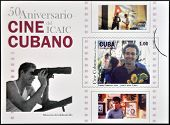CUBA - CIRCA 2009: A stamp printed in Cuba dedicated to Cuban cinema shows Strawberry and Chocolate