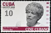 CUBA - CIRCA 2009: A stamp printed in Cuba dedicated to Cuban cinema shows Reina y Rey