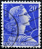 FRANCE - CIRCA 1955: stamp printed in France shows Marianne - national emblem of France