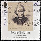 ISLE OF MAN - CIRCA 2006: A stamp printed in Isle of Man shows Ewan Christian