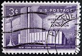 UNITED STATES OF AMERICA - CIRCA 1956: A stamp printed in USA shows New York Coliseum