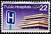 UNITED STATES OF AMERICA - CIRCA 1986: A Stamp printed in USA shows Public Hospitals circa 1986