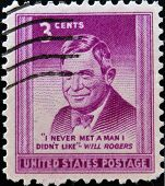 UNITED STATES OF AMERICA - CIRCA 1948 - A stamp printed in USA shows William Penn Adair