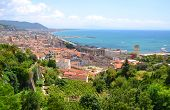 picturesque landscape of salerno in campania region, italy