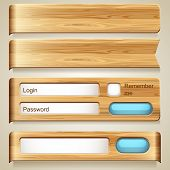 Vector set of wood elements for design