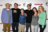 LOS ANGELES - SEP 3:  George Segal, Jeff Garlin, Sean Giambrone, Troy Gentile, Hayley Orrantia, Wend