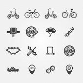 Bicycle icon vector set