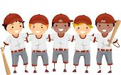 Illustration Featuring a Team of Baseball Players