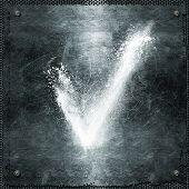 Flour On Metal Plate