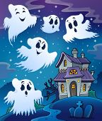 Haunted house theme image 7 - eps10 vector illustration.
