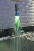 Ornate Iluminated Tap In Kitchen