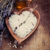 Bath Salt with Lavender Flowers