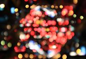 Colorful bokeh background with defocused lights