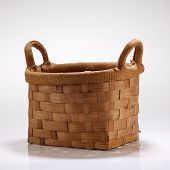 handmade basket on the white background