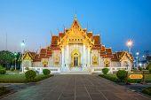 The Marble Temple, Wat Benchamabopitr Dusitvanaram Bangkok Thailand