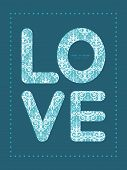 Vector light blue swirls damask love text frame pattern invitation greeting card template