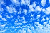 stock photo of vapor  - Blue sky with clouds - JPG