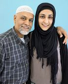 Arabic Muslim girl with her father