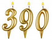 Candles Numberthree Hundred Ninety