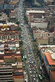 Mexico City Street Aerial View Df