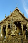 thai gold temple the front angel