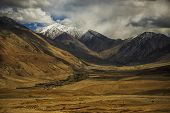 Sand Mountain with Blue Sky Ladakh ,India