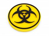 Yellow Biohazard Button