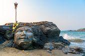 picture of shiva  - Attractions Vagator Beach in North Goa face of Shiva - JPG
