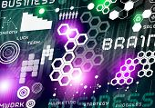 Purple Innovative technologies background