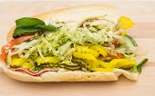 Italian Sub With Spinach And Peppers