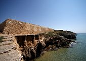 Coastal Wall Roman Fort In Tarragona, Spain